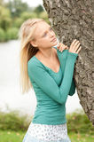 Young and smiling woman Royalty Free Stock Photos