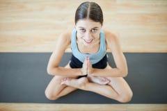 Happy yoga stock photo