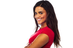 Young smiling woman, arms crossed Stock Photography