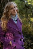 Young smiling woman in  in autumn park Stock Image
