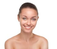 Young smiling woman with beautiful healthy face Royalty Free Stock Images