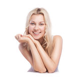Young smiling woman with beautiful healthy face Royalty Free Stock Photography