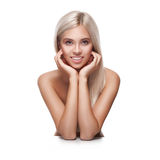 Young smiling woman with beautiful healthy face Royalty Free Stock Photo
