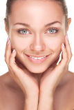 Young smiling woman with beautiful healthy face Stock Image