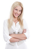 Young smiling woman in business outfit Stock Photos