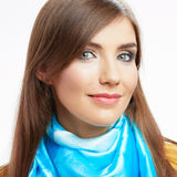 Young smiling woman casual style portrait Royalty Free Stock Image