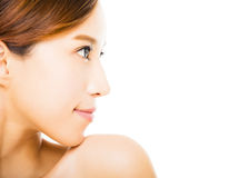 young smiling  woman with clean face Stock Photo