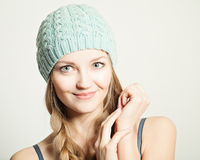 Young smiling woman. Cute face Royalty Free Stock Images