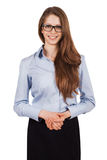 Young smiling woman in glasses Royalty Free Stock Photography