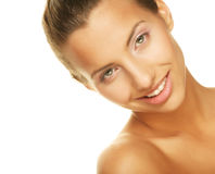 Young smiling woman with healthy skin Royalty Free Stock Photo