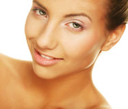 Young smiling woman with healthy skin Stock Images