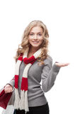 Young smiling woman holding shopping bags Stock Photo