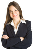 Young Smiling Woman In A Business Suit Stock Image