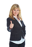 Young Smiling Woman In A Business Suit Stock Images