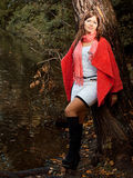 Young Smiling Woman In Autumn Park Royalty Free Stock Photography