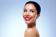 Young smiling woman looking away Royalty Free Stock Image