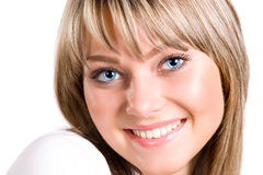 Young smiling woman portrait Royalty Free Stock Image