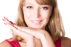 Young smiling woman portrait Royalty Free Stock Images