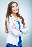 Young smiling woman portrait . Casual style. Beaut Royalty Free Stock Image