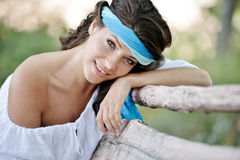 Young smiling woman portrait outdoor Royalty Free Stock Photo