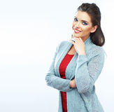 Young smiling woman portrait.  Stock Photo
