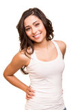 Young smiling woman posing Stock Images