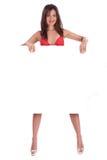Young smiling woman in red bikini Stock Image