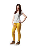 Young smiling woman standing stock photos