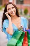 Young smiling woman to purchases Stock Photography