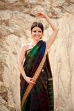 Young smiling woman in traditional indian dress Royalty Free Stock Photo