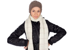 Young Smiling Woman Winter Fashion Stock Image