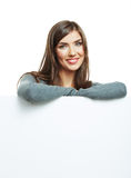 Young smiling woman witn blank board Stock Photography