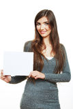 Young smiling woman witn blank board Stock Photo