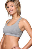 Young smiling woman working out Stock Image