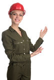 Young smiling Worker woman Royalty Free Stock Images