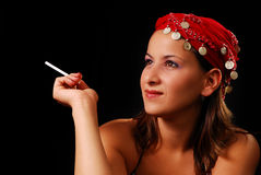 Young smoker Stock Photos