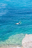 Young snorkeling Royalty Free Stock Photography