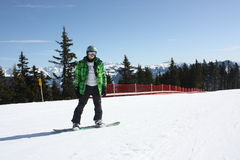 Young snowboard man. Royalty Free Stock Photography