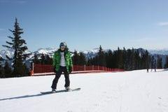 Young snowboard man. Royalty Free Stock Image