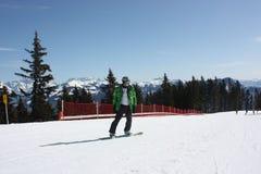 Young snowboard man. Royalty Free Stock Photos