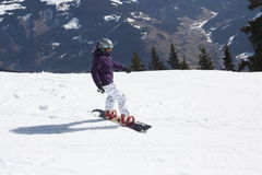 Young snowboard woman. Stock Photo