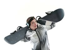 Young snowboarder Royalty Free Stock Images