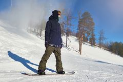 Young Snowboarder royalty free stock photos