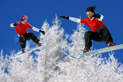 Young snowboarders Royalty Free Stock Image