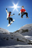 Young snowboarders Royalty Free Stock Photo