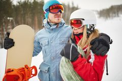 Young snowboarders Stock Photography
