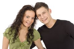 Young Snuggling Couple Stock Images