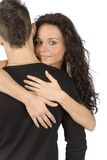 Young Snuggling Couple Royalty Free Stock Image