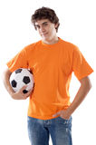 Young with soccer ball Royalty Free Stock Photos