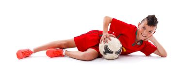 Young soccer boy Royalty Free Stock Photo